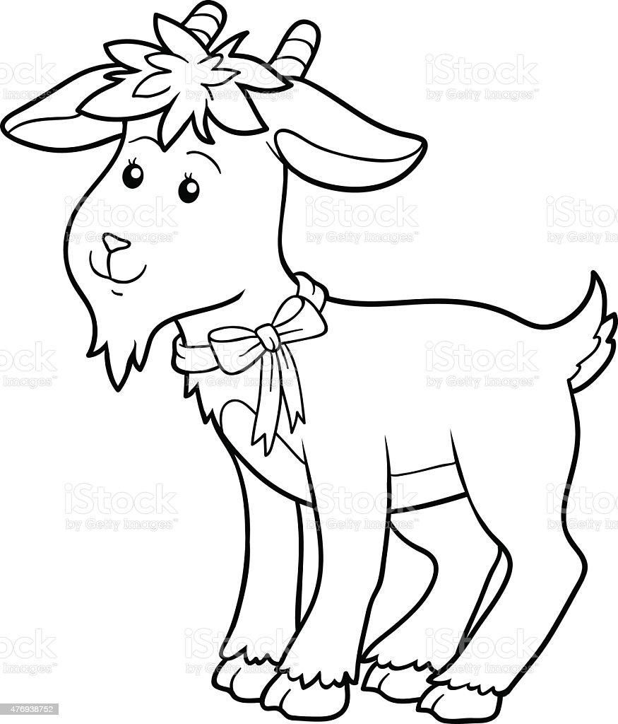 Ilustración de Libro Para Colorear Cabra y más banco de imágenes de ...