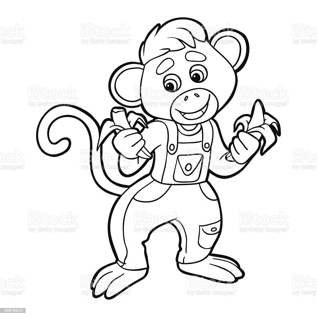 Ilustración de Libro Para Colorear Con Los Plátanos y más banco de ...