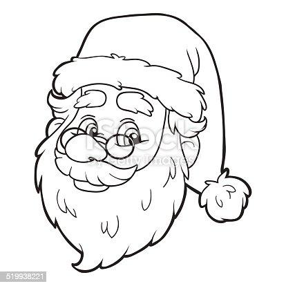 istock Libro para colorear (muñeco de nieve y árbol de Navidad ...