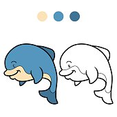 Coloring book (dolphin)