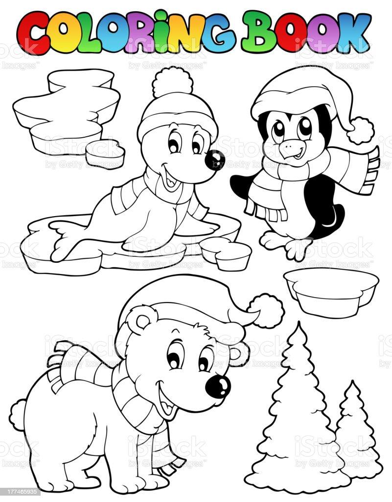 Ilustración de Libro Para Colorear Animales De Invierno 2 y más ...