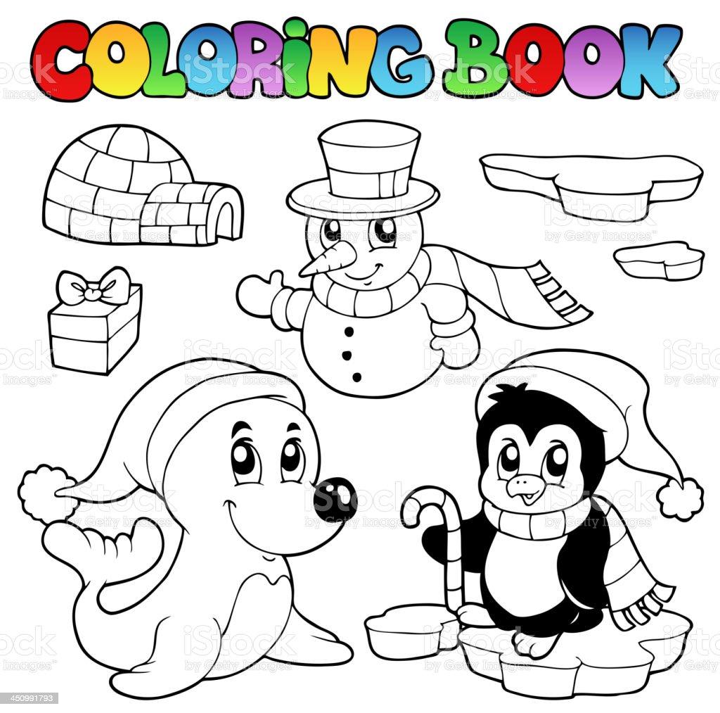 Ilustración de Libro Para Colorear Animales De Invierno 3 y más ...