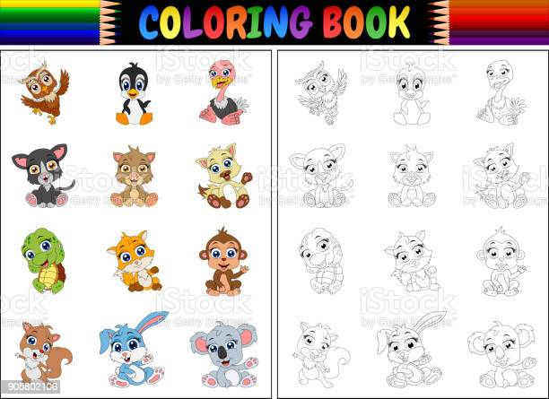 Coloring book with animals cartoon collection vector id905802106?b=1&k=6&m=905802106&s=612x612&h=iw7muv8zw5mxtt6bhfwkgoki6cw5aakj bjfpufp3ka=