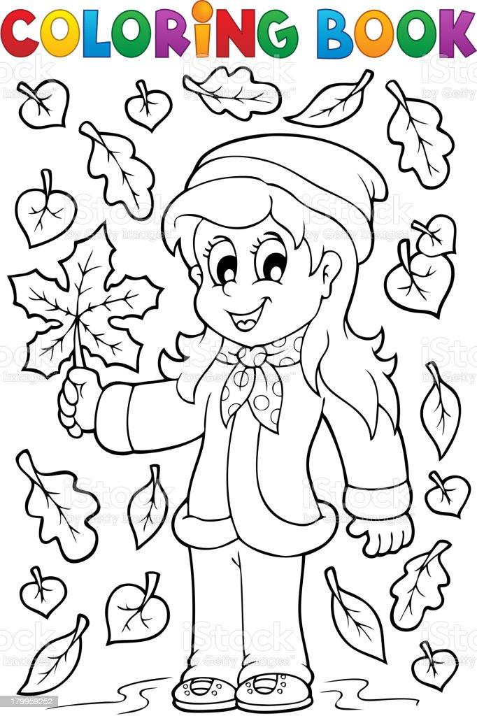 Kolorowanka Z Jesień Motyw 2 Stockowe Grafiki Wektorowe I Więcej