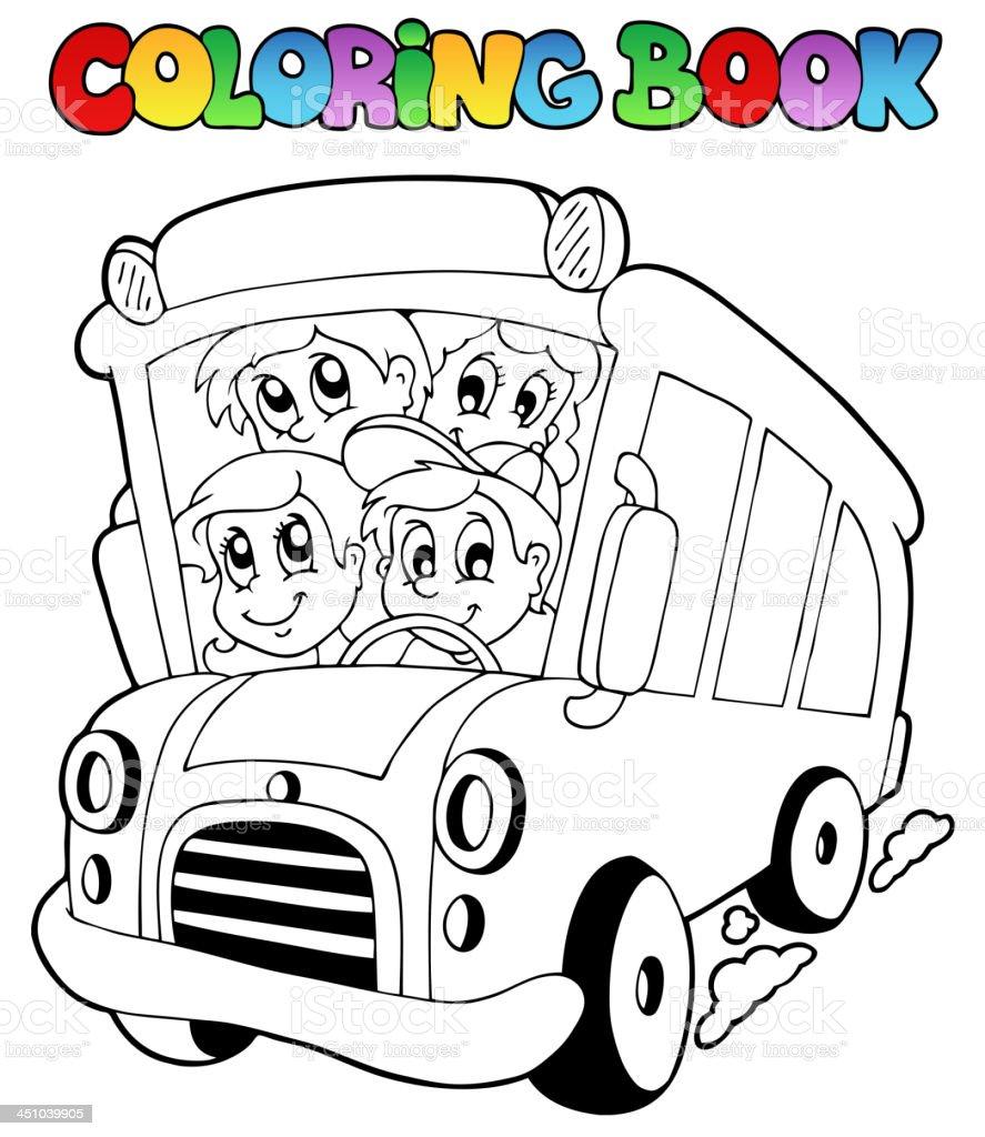 塗り絵バスとお子様のご予約ください お絵かきのベクターアート素材や