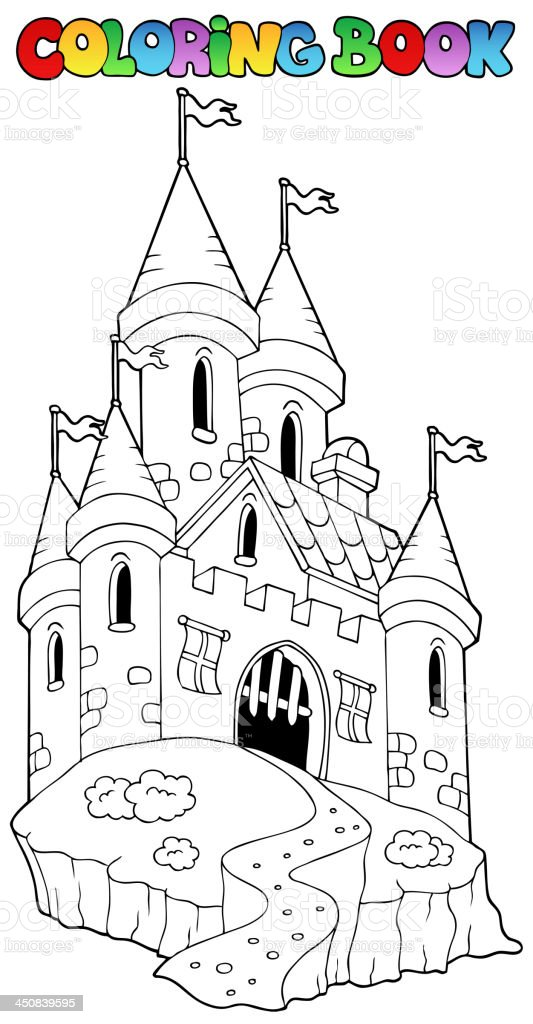 - Coloring Book With Castle 1 Stock Illustration - Download Image Now - IStock