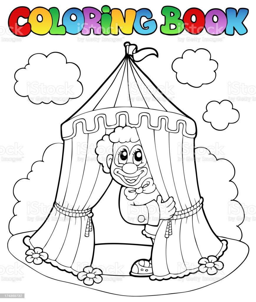 Libro Da Colorare Con Clown E Tenda Immagini Vettoriali Stock E