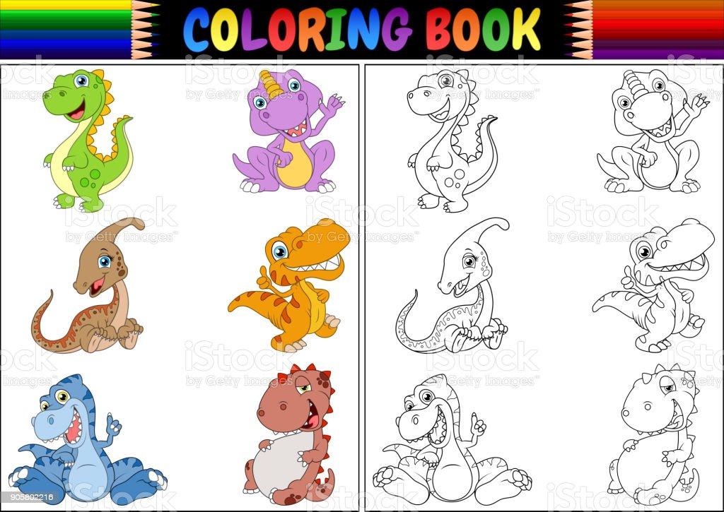 Ilustración de Libro Con La Colección De Dibujos Animados De ...