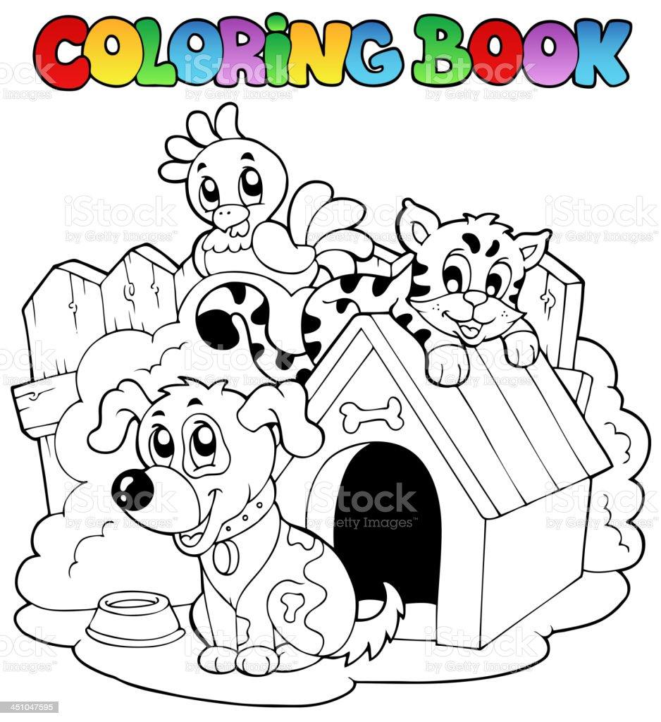 Ilustración de Libro Para Colorear Con Los Animales Domésticos y más ...