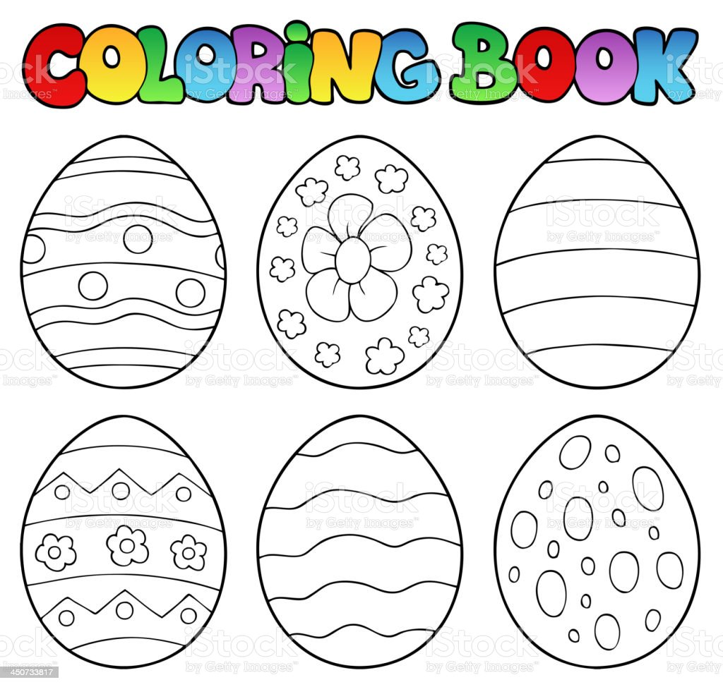 Coloring Book With Easter Eggs Stock Illustration - Download Image Now