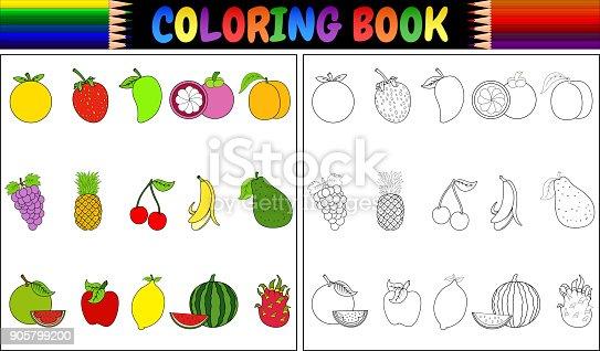 istock Colección de frutas tropicales: Carambola, fruta del dragón ...