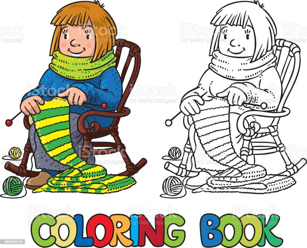Ilustración de Libro Para Colorear Con Las Mujeres Divertido ...