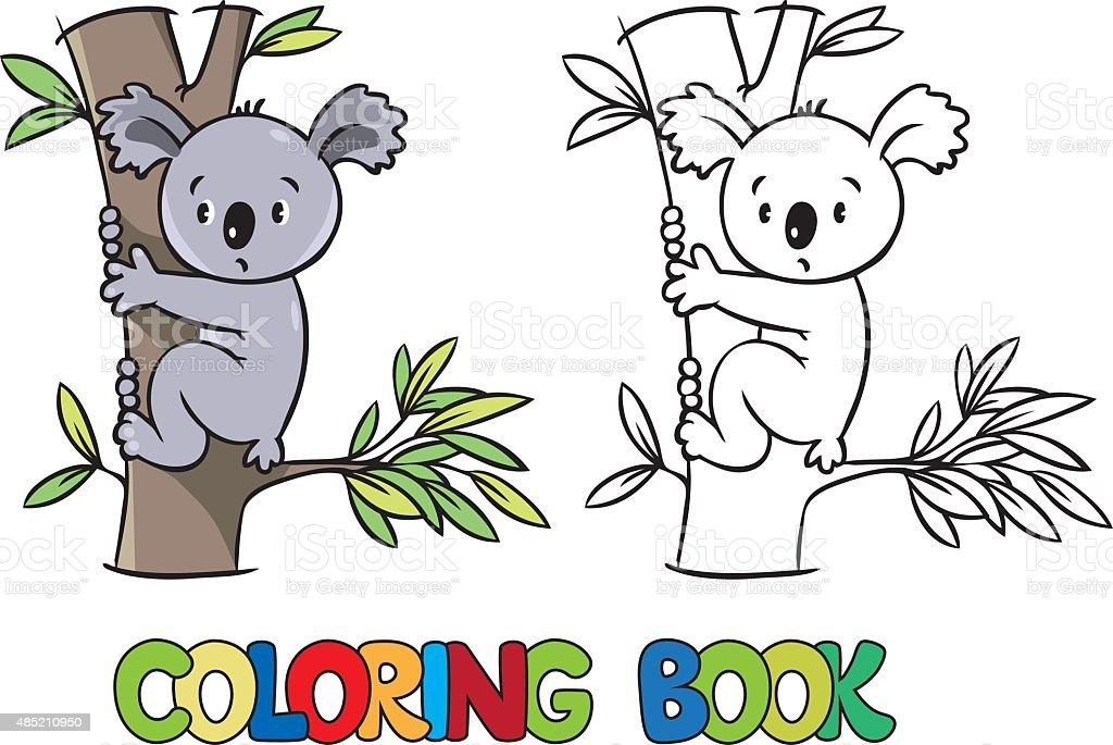 Ilustración de Libro Para Colorear Con Divertidos Koalas y más banco ...