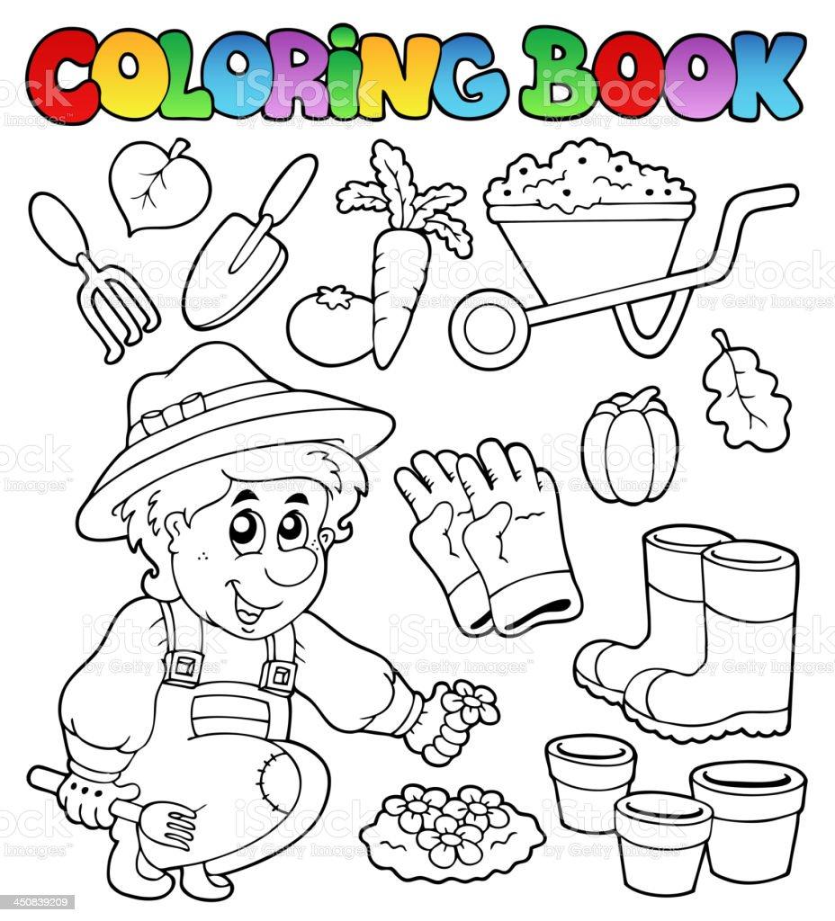 Ilustración de Libro Para Colorear Con Temática Estilo Jardín y más ...