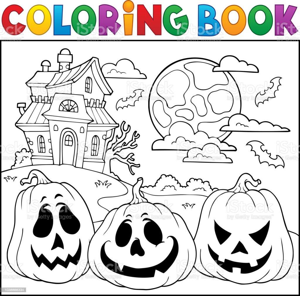 ハロウィン カボチャ 2 と塗り絵 お絵かきのベクターアート素材や画像