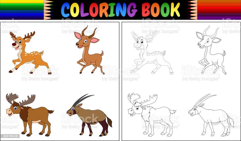 Ilustración de Libro Colección De Cuernos De Animales Para Colorear ...