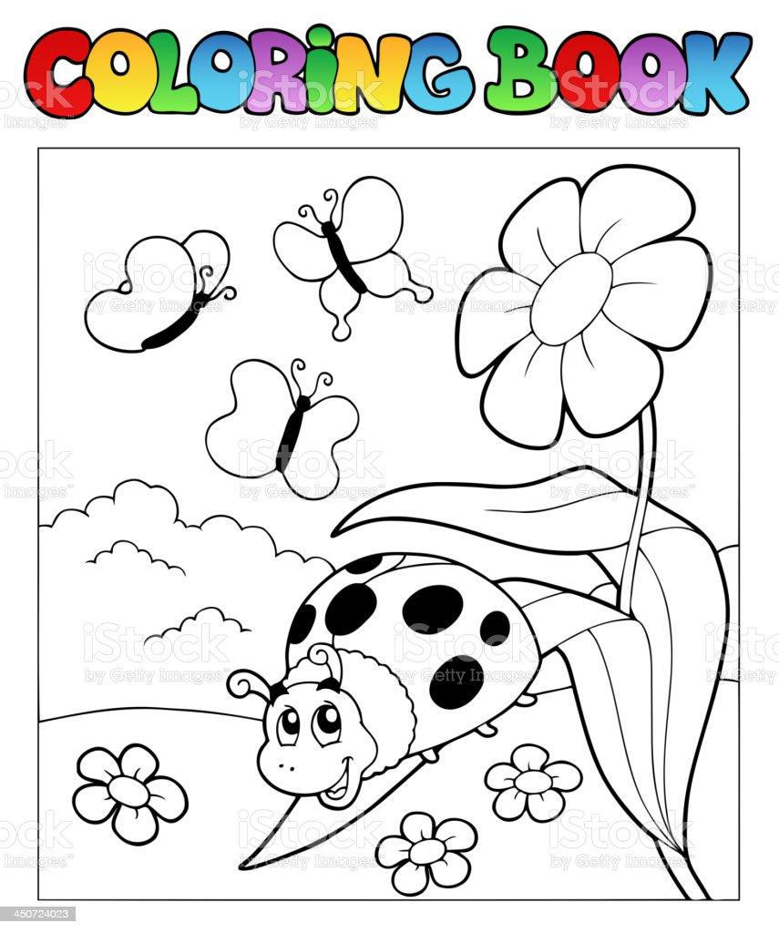 Libro Da Colorare Con Coccinella 1 Immagini Vettoriali Stock E