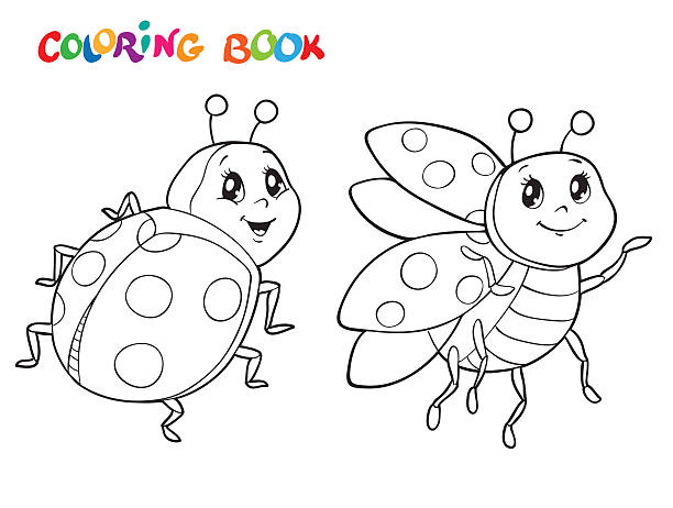 Images of Cute Ladybug Coloring Pages - Sabadaphnecottage