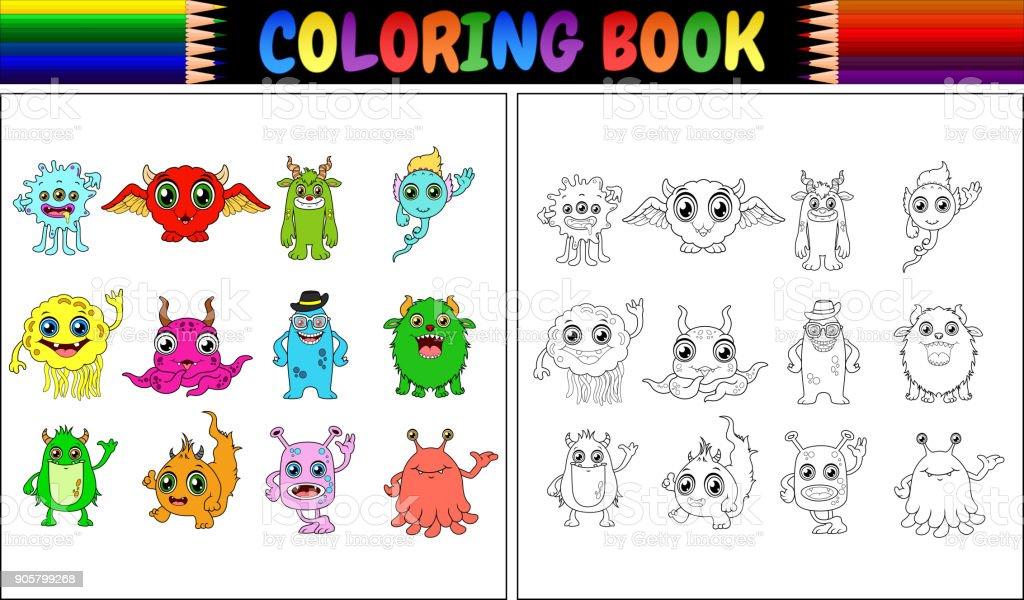 Ilustración De Libro Con La Colección De Dibujos Animados De