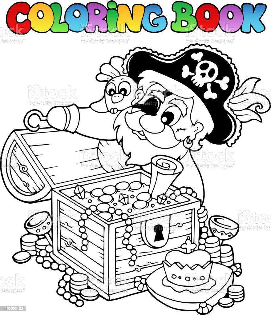Ilustración de Libro Para Colorear Con Pirata Tema 8 y más banco de ...