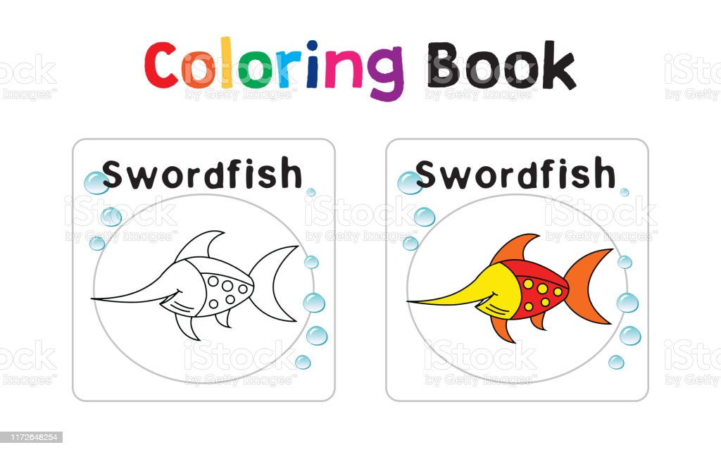 - Coloring Book With Sea Animals Stock Illustration - Download Image Now -  IStock