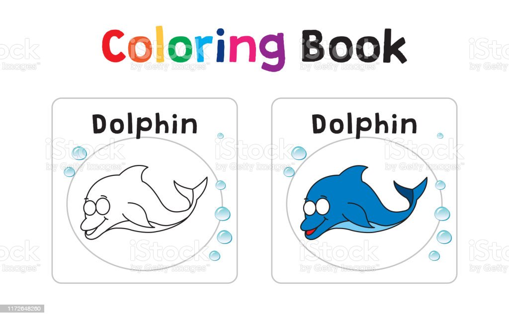 Coloring Book With Sea Animals Stock Illustration - Download Image Now -  IStock