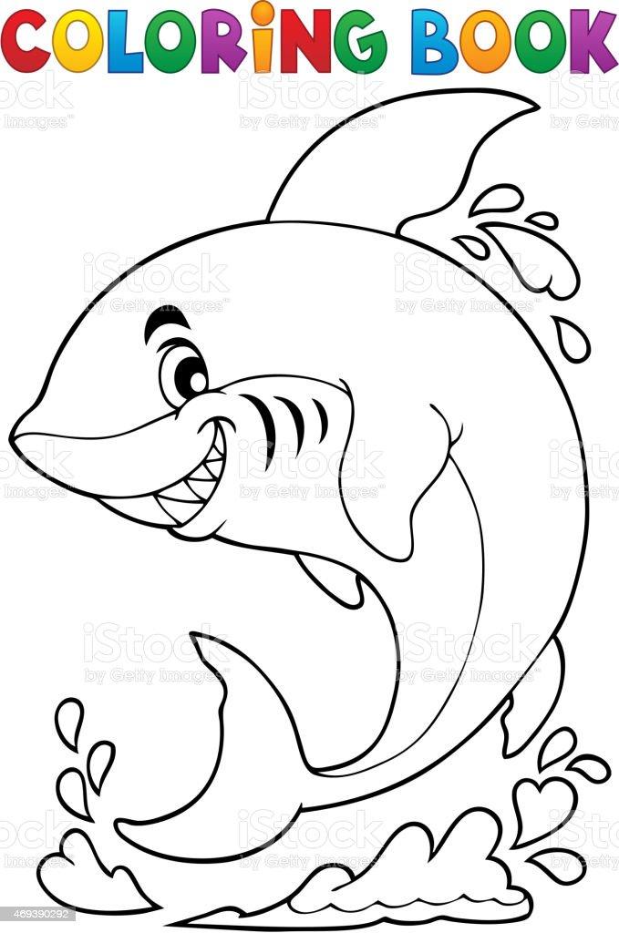Ilustración de Libro Para Colorear Con Temática De Tiburón y más ...
