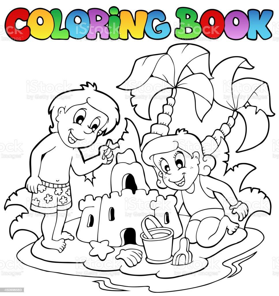 Ilustración de Libro Para Colorear Con Verano Tema 1 y más banco de ...