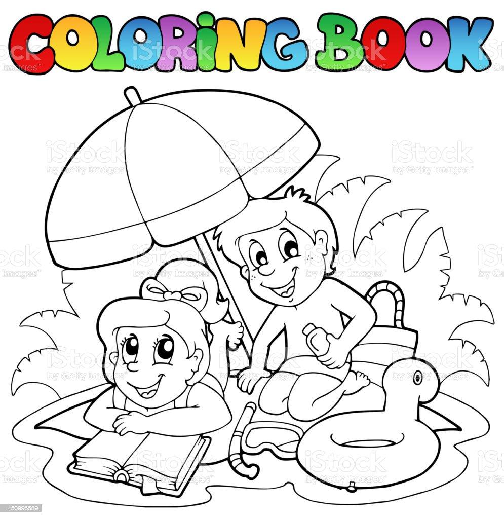 Libro Para Colorear Con Verano Tema 2 - Arte vectorial de stock y ...