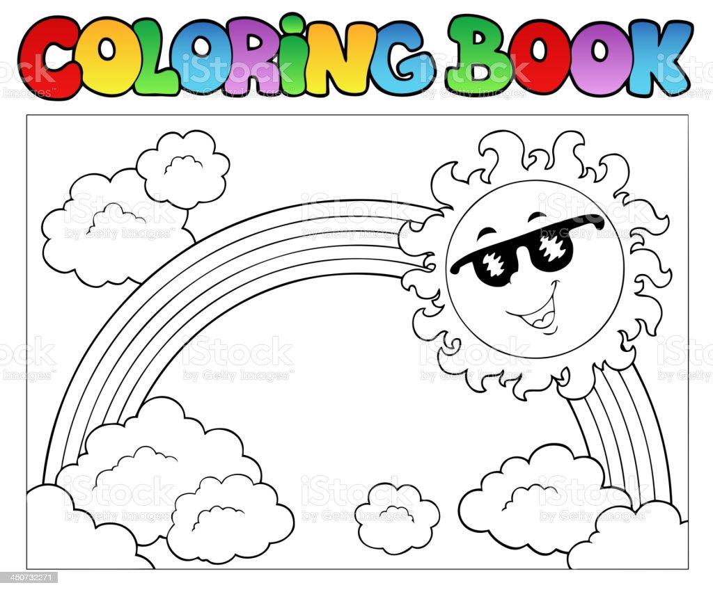 Vetor De Livro De Colorir Com Sol E Arcoíris E Mais Banco