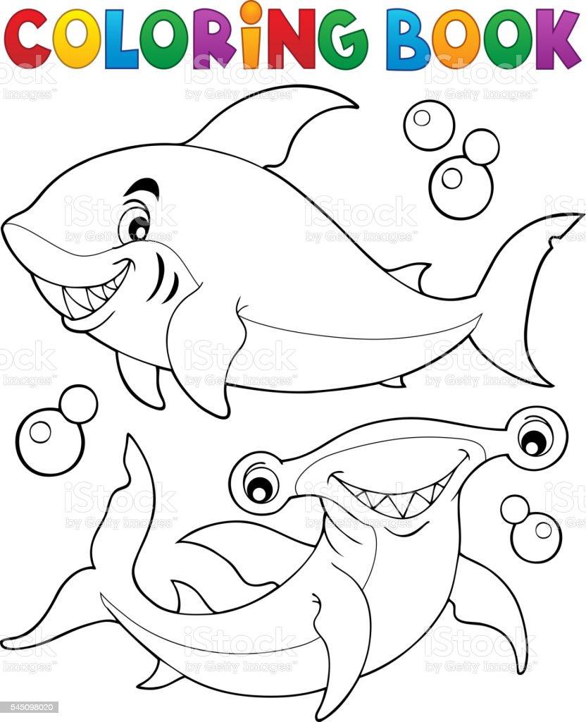 サメ塗り絵の本 2 つ のイラスト素材 545098020 | istock