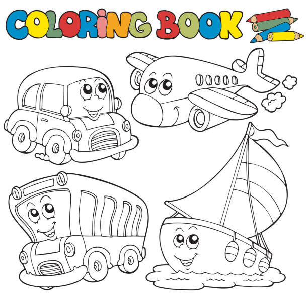Vectores de Dibujos Animados De Coches Y Camiones Libro Para ...