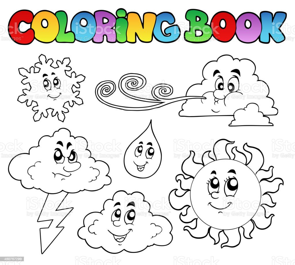Ilustración de Libro Para Colorear Con Imágenes Climatológicas y más ...