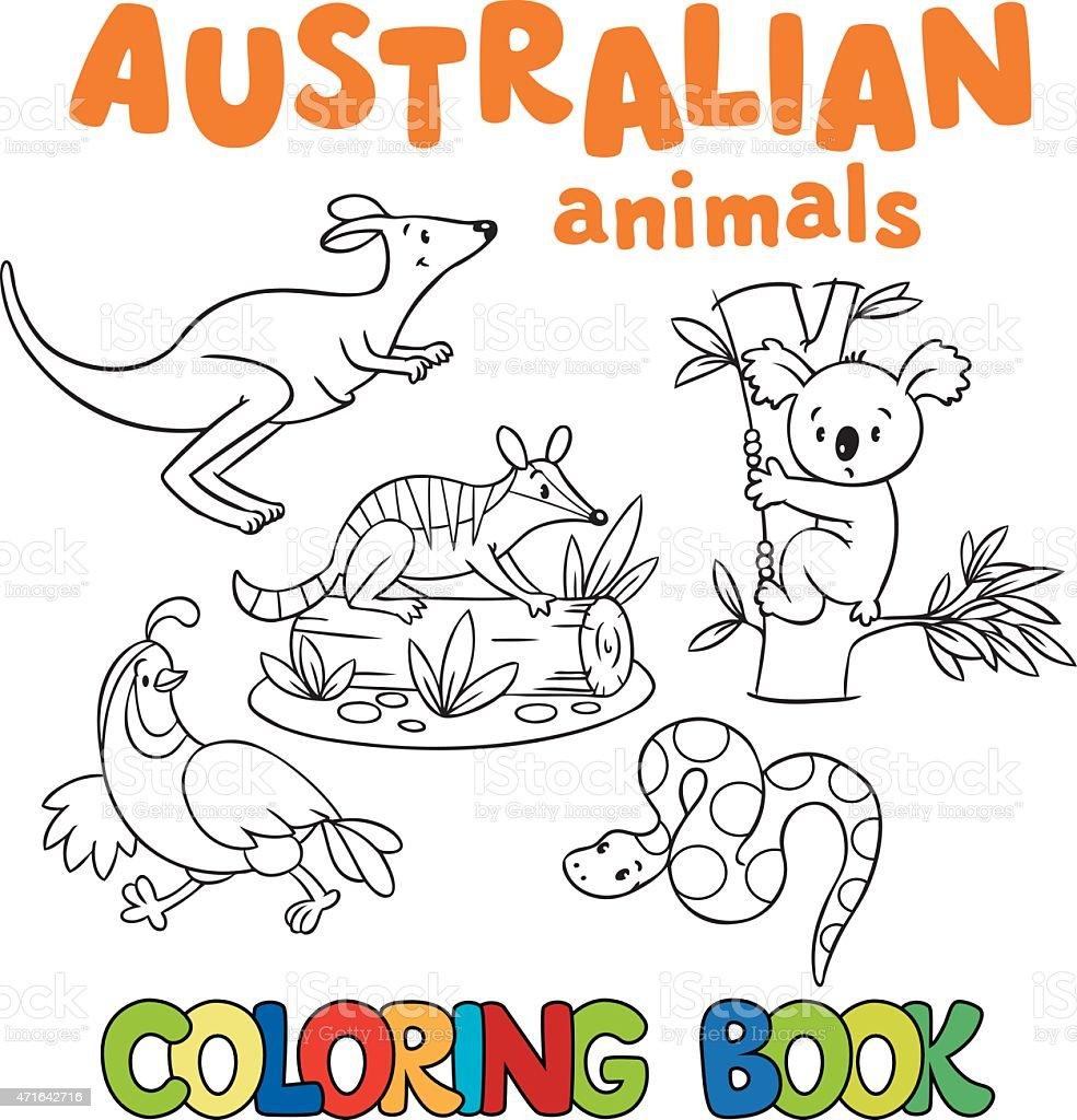 Libro Da Colorare Con Animali Selvatici Immagini Vettoriali