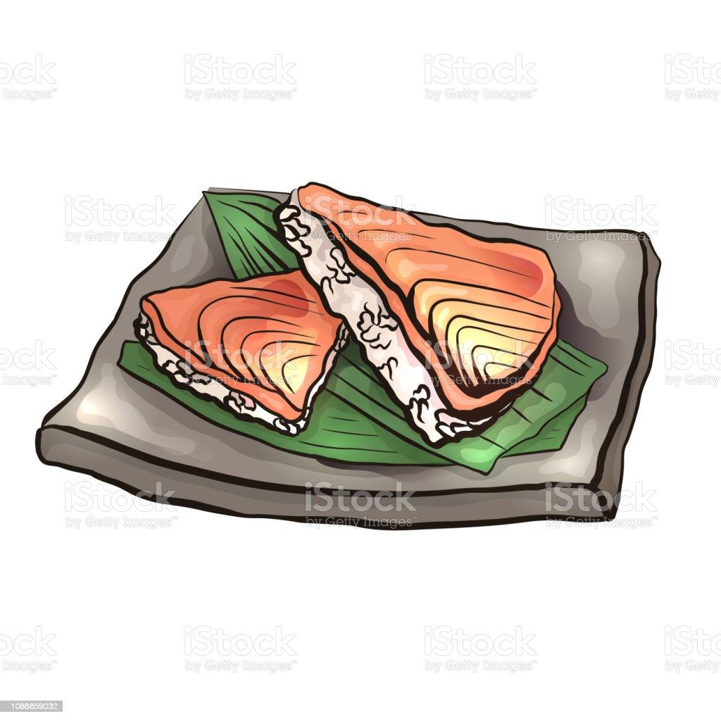 Illustration De Dessin Animé Coloriage De Cuisine Japonaise