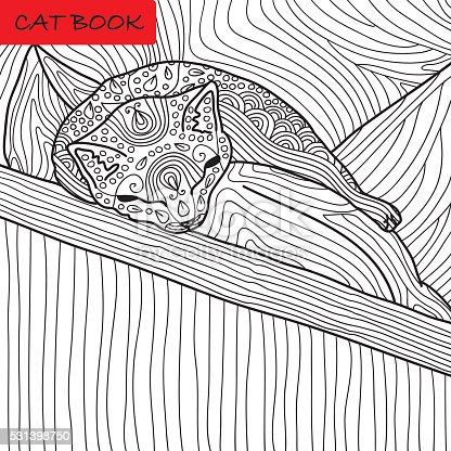 istock gato página para colorear para adultos. 531398854 istock gato ...