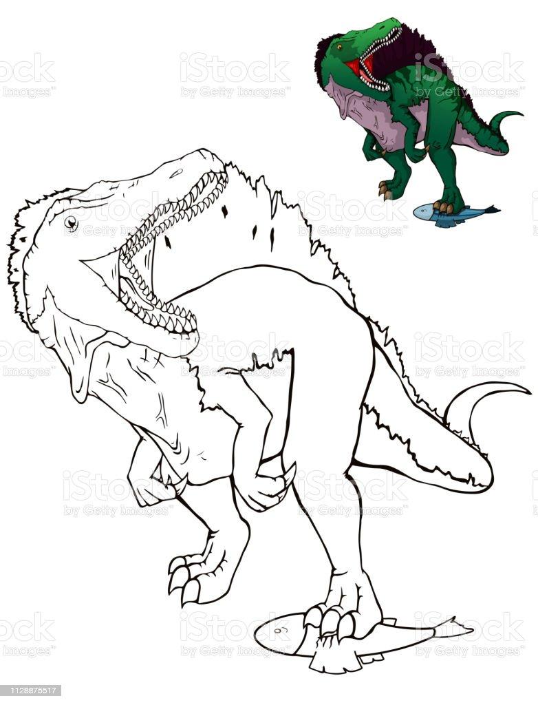 Malvorlagen Dinosaurier Spinosaurus Malvorlagen Fur Kinder Stock