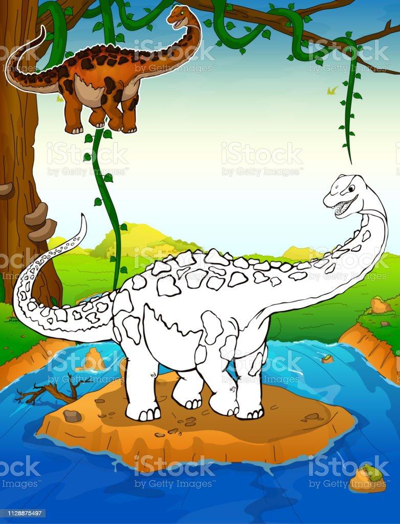 kinder malvorlagen dinosaurier