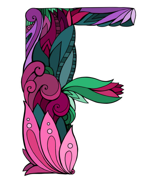 Fancy Letter F Drawings Clip Art Vector Images Illustrations