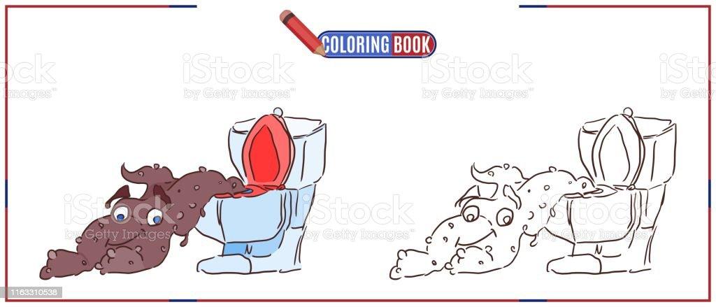 Tuvalet Cocuk Canavar Icin Boyama Oyunu Stok Vektor Sanati Abd