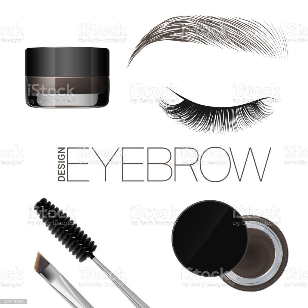 Ilustración De Colorear El Gel Para Cejas Maquillaje De Cejas