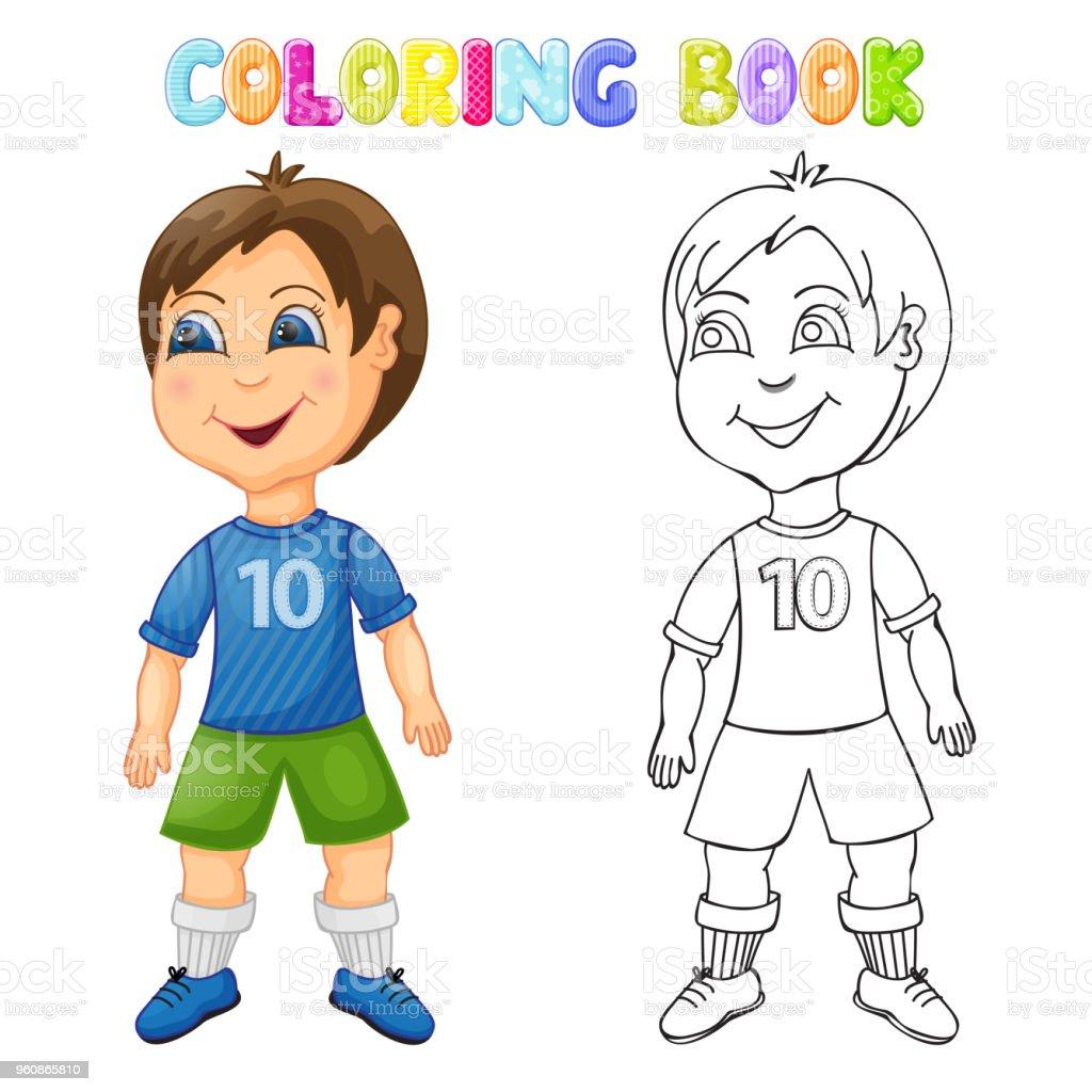 Izole Boyama Mutlu Cocuk Stok Vektor Sanati Animasyon Karakter