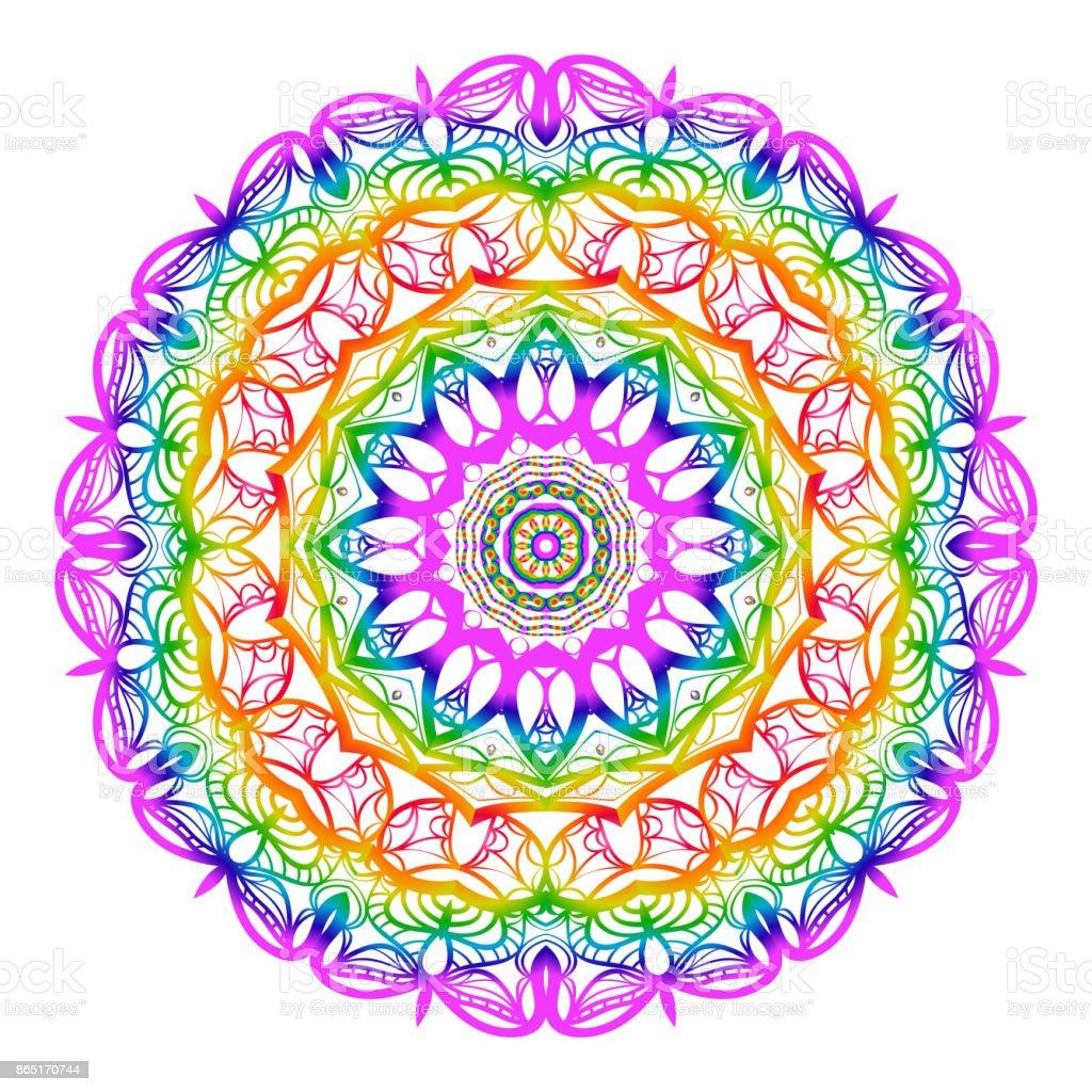 Ilustración de Mandala Para Colorear Altamente Detallada Vector ...