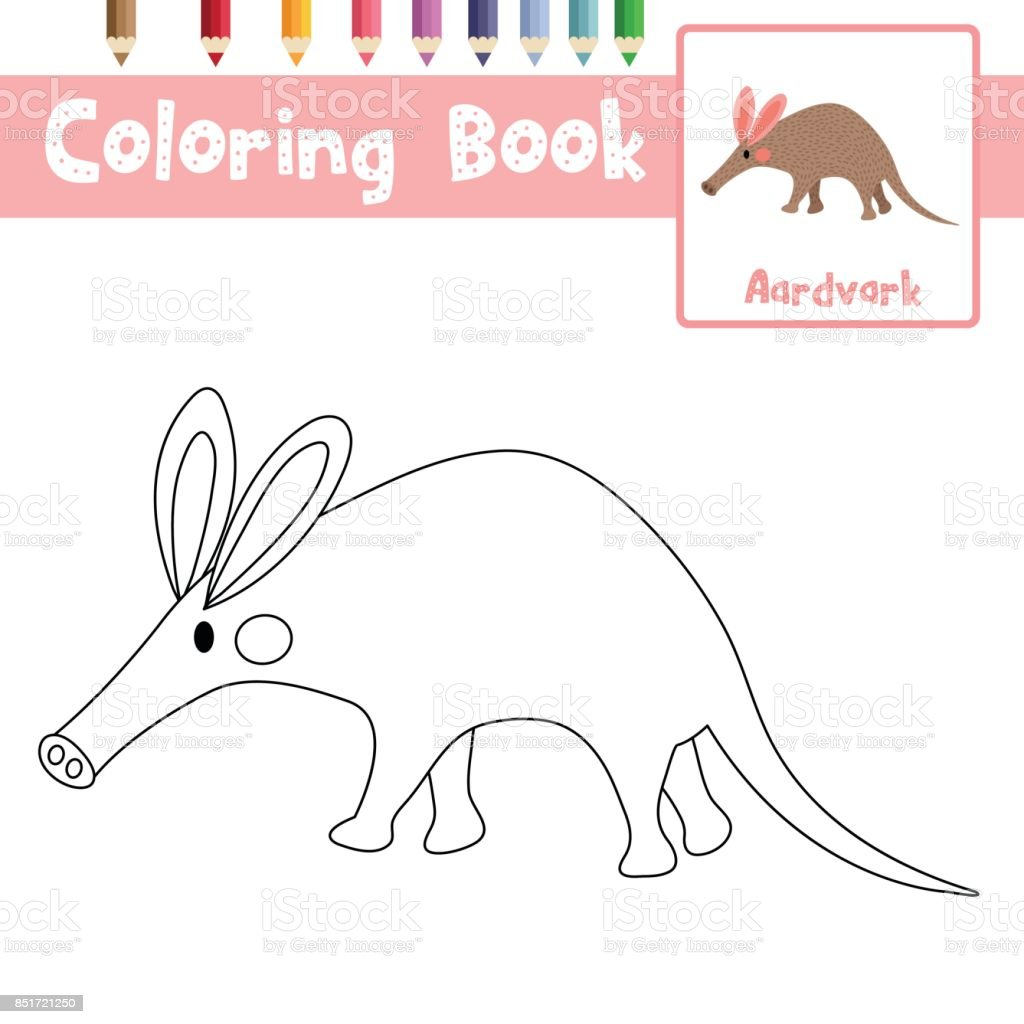 Great Coloring Page Aardvark Vector Illustration Royalty Free Coloring Page  Aardvark Vector Illustration Stock Vector Art