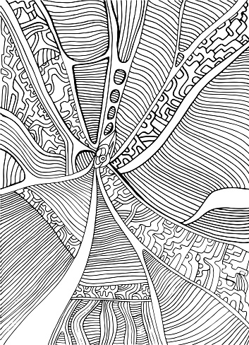 coloring page abstract pattern maze of ornaments psychedelic s stock illustration  download
