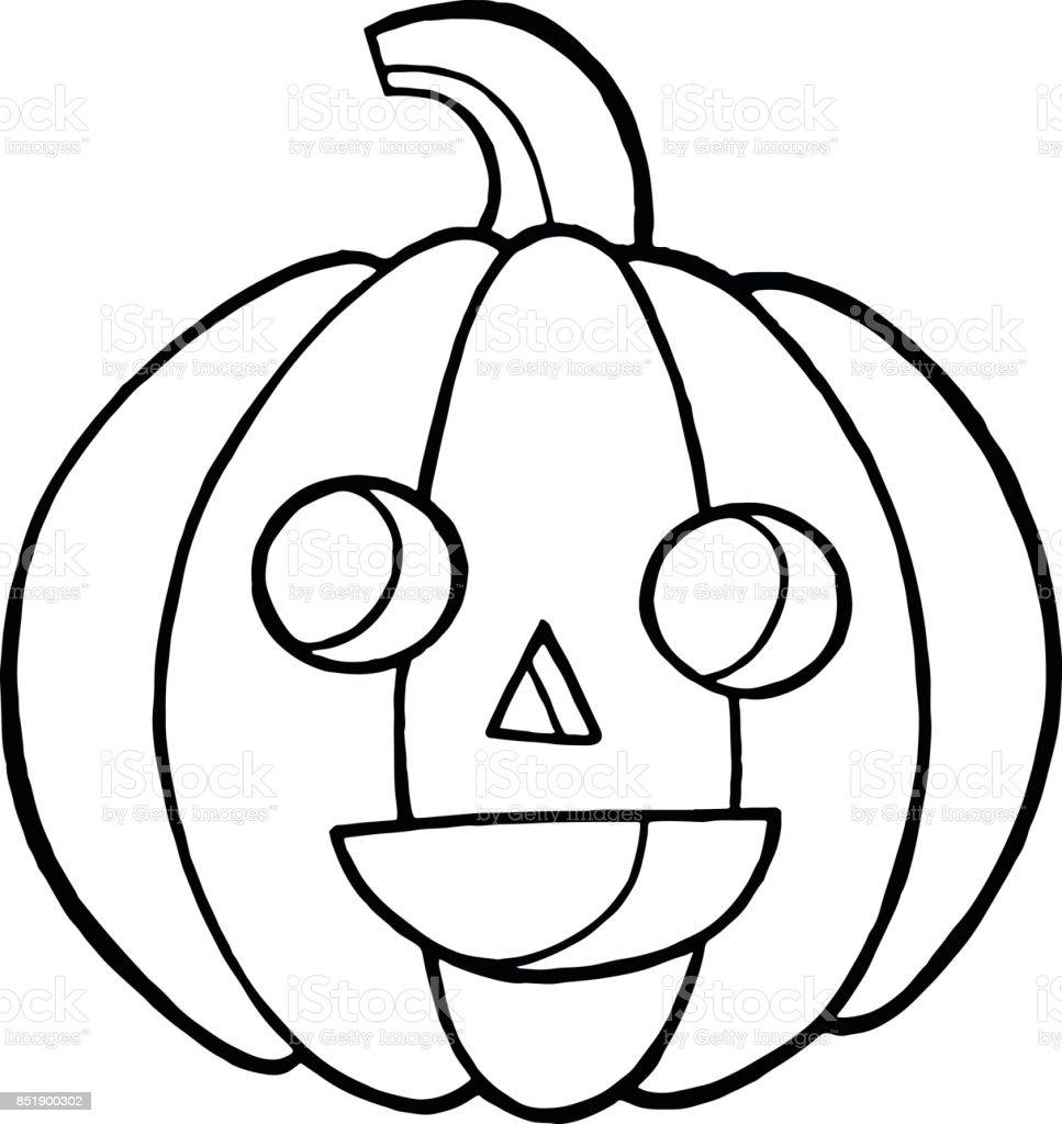 Doodle Et Coloriage Dessin Avec Citrouille Pour Halloween