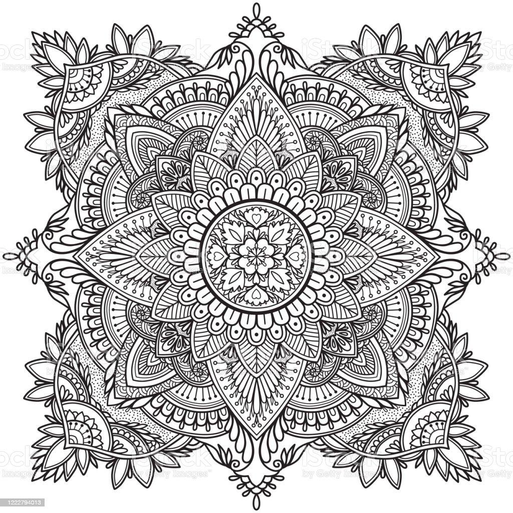 Malseite Antistress Malbuch Für Erwachsene Mandala