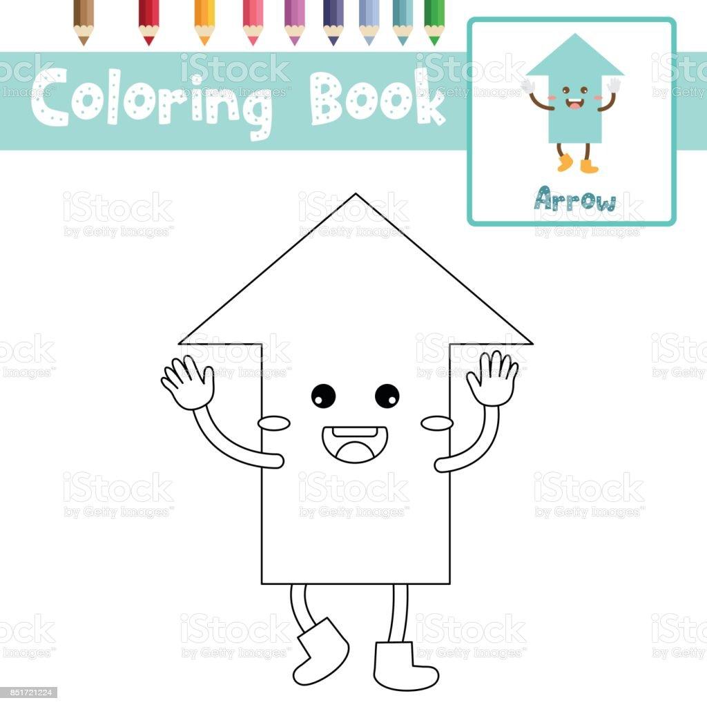 Sayfa Ok şekli Vektör çizim Boyama Stok Vektör Sanatı Anaokulunin