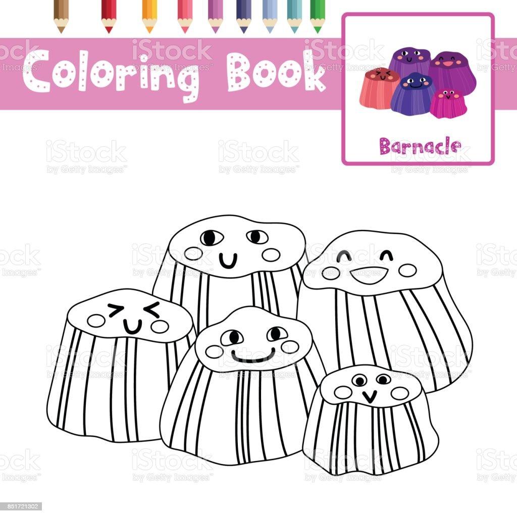 Ilustración de Colorear Ilustración De Vector De Página Percebes ...