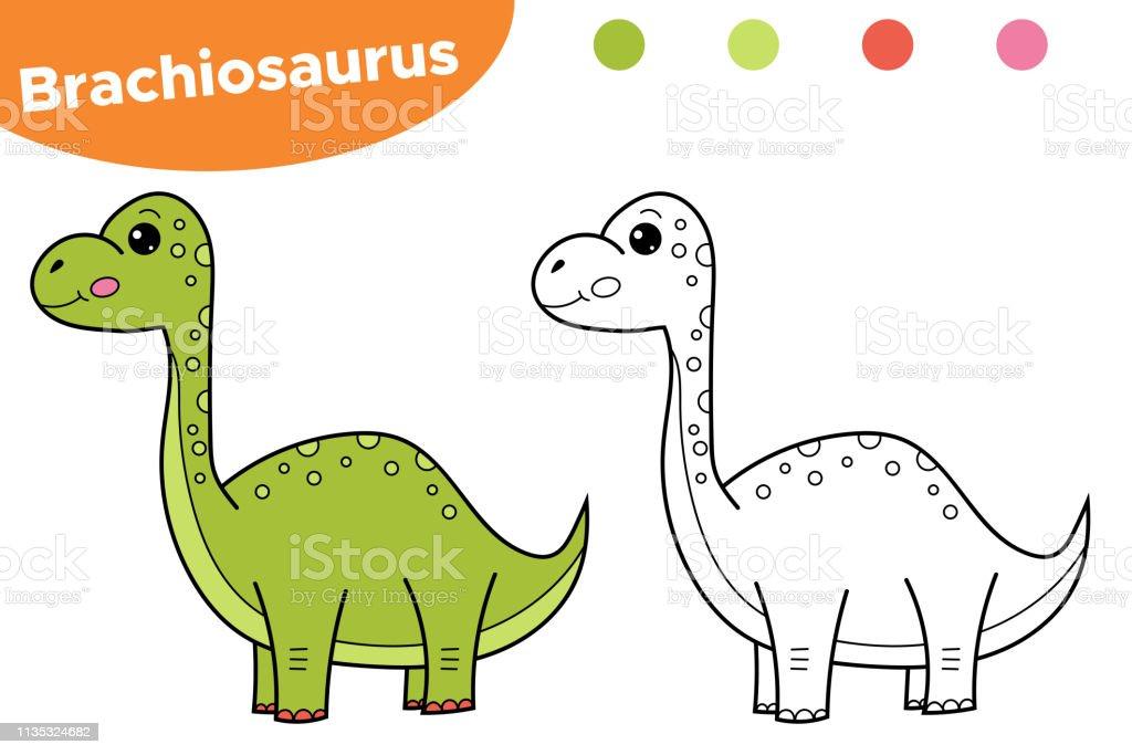 coloring page brachiosaurus stock illustration download image now istock coloring page brachiosaurus stock illustration download image now istock